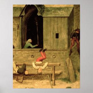 Children's Games : detail of a boy on stilts Poster