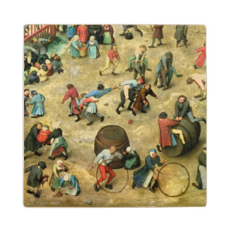 Children's Games : detail of bottom Wood Coaster