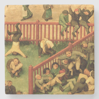 Children's Games : detail of left-hand section Stone Coaster