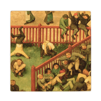 Children's Games : detail of left-hand section Wood Coaster