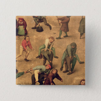 Children's Games detail of playing leap-frog 15 Cm Square Badge