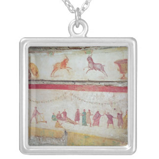 Children's games silver plated necklace