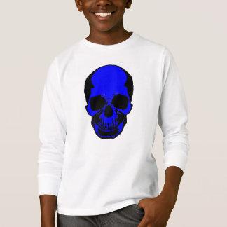 Children's Halloween Shirt - Blue Skull