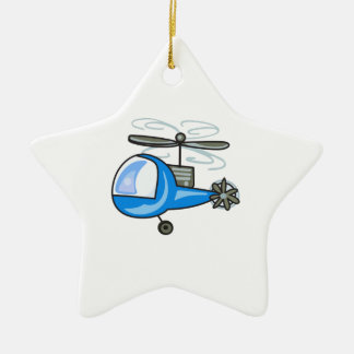 CHILDRENS HELICOPTER CHRISTMAS ORNAMENT