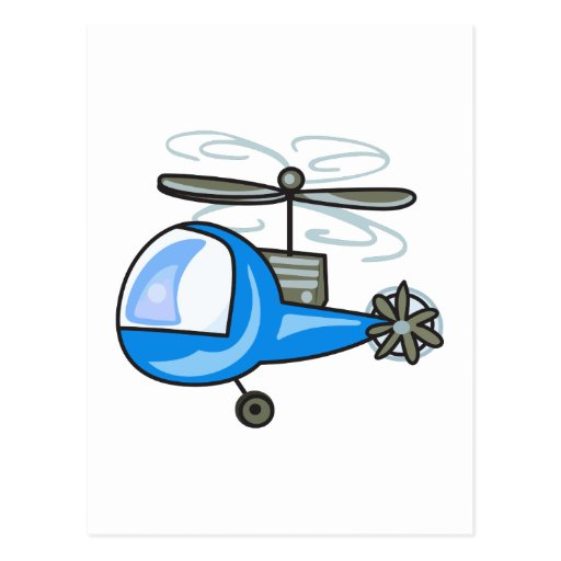 'Childrens Helicopter Postcard