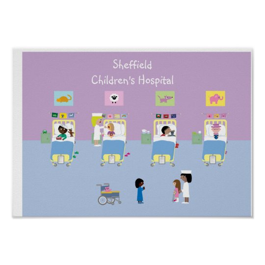 Children's Hospital Ward Customisable Poster