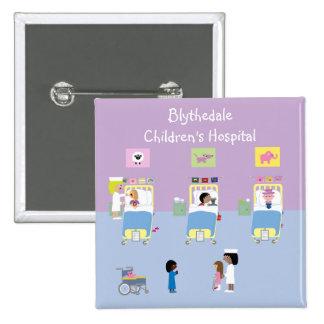 Children's Hospital Ward Customizable 15 Cm Square Badge