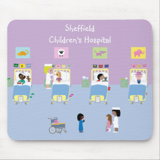 Children's Hospital Ward Customizable Mouse Mat