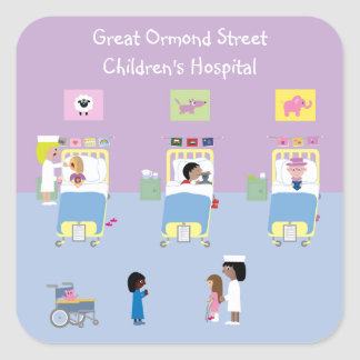 Children's Hospital Ward Customizable Square Sticker