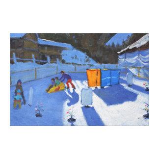 childrens ice rink Clusaz 2014 Canvas Print
