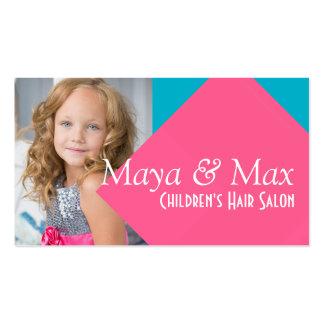 Children's Kids Hair Salon Stylist Shop Beauty Business Card