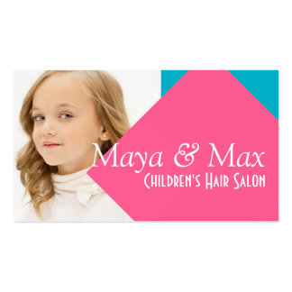 Children's Kids Hair Salon Stylist Shop Beauty Business Cards