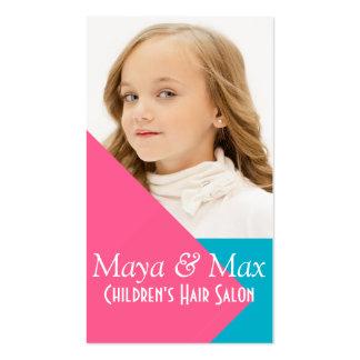 Children's Kids Hair Salon Stylist Shop Beauty Business Card Template