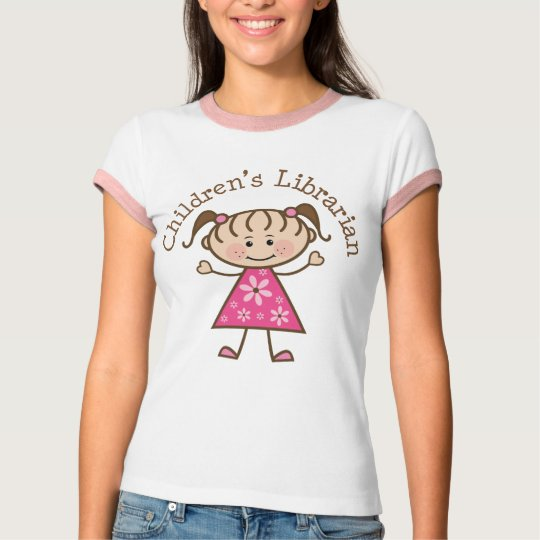 Children's Librarian Stick Figure Gift T-Shirt