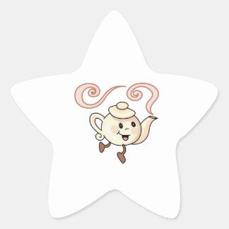 CHILDRENS LITTLE TEAPOT STAR STICKER