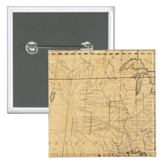 Children's Map Of The United States 15 Cm Square Badge