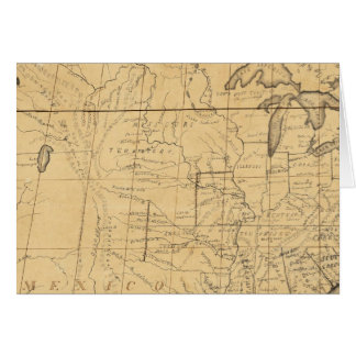 Children's Map Of The United States Card