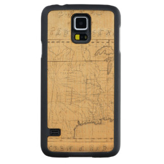 Children's Map Of The United States Carved Maple Galaxy S5 Case