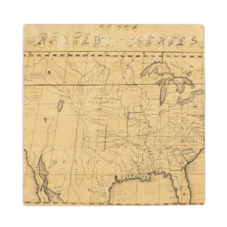Children's Map Of The United States Wood Coaster