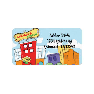 Childrens Museum Neutral Return Address Label