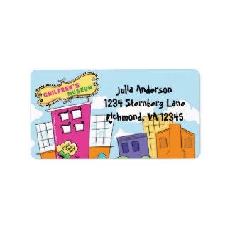 Childrens Museum Pink Return Address Label