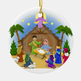 Children's Nativity  mug key chain necklace phone Christmas Ornament
