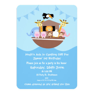 Children's Noah's Ark Birthday Invitation