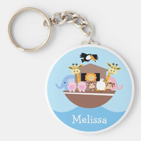 Children's Noah's Ark Key Ring Basic Round Button Key Ring