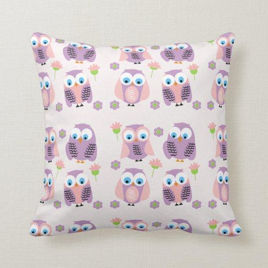 Children's Nursery Purple Owls Cushion