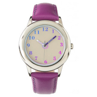 Children's_Pink_Blue_Numbers Wristwatch