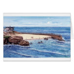 CHILDREN'S POOL WITH SEALSL, LA JOLLA, CALIFORNIA GREETING CARD