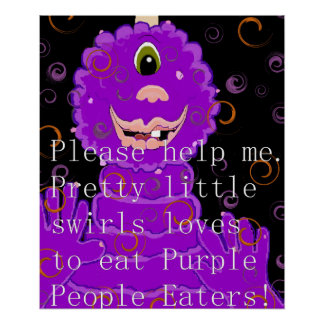Children's Purple People Eater Poster. Poster