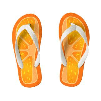 Children's Size Cute and Funny Orange Slice Flip Flops
