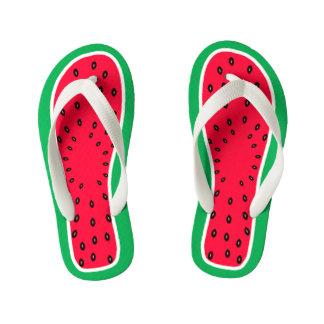 Children's Size Funny Watermelon Slice Look Flip Flops