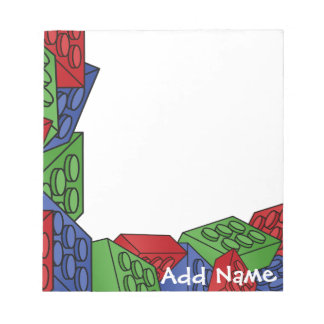 Childrens Toy Art - Building Blocks Notepads