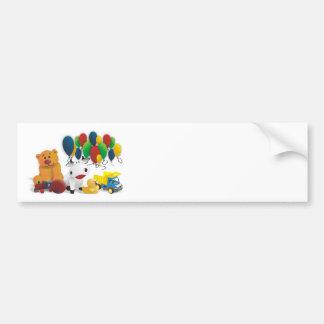 Children's toy bumper sticker