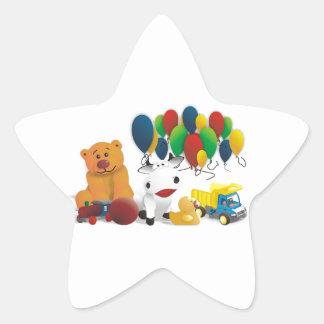 Children's toy star stickers