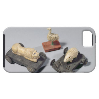 Children's toys: a hedgehog, a lion and a dove, Su iPhone 5 Covers