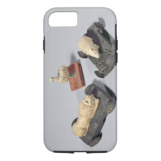 Children's toys: a hedgehog, a lion and a dove, Su iPhone 7 Case