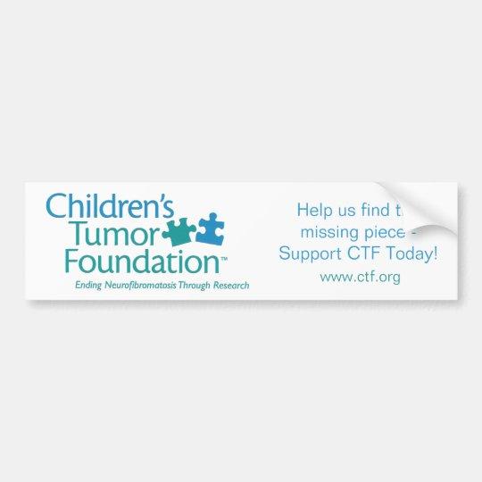 Children's Tumour Foundation Bumper Sticker