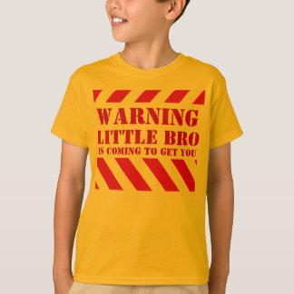 Children's warning stripes little bro t-shirt