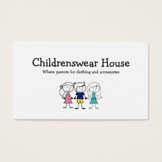 Children's Wear Business Card