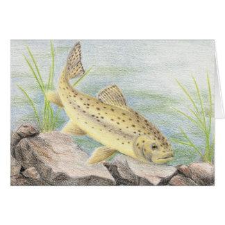 Children's Winning Artwork: apache trout Greeting Card