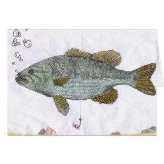 Children's Winning Artwork: bass Greeting Card