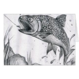 Children's Winning Artwork: brook trout Card