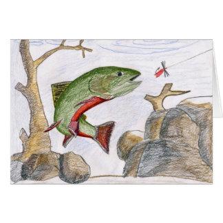 Children's Winning Artwork: brook trout Greeting Card