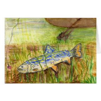 Children's Winning Artwork: brook trout Cards