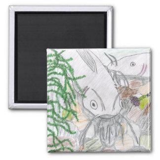Children's Winning Artwork: channel catfish Square Magnet