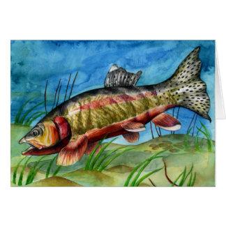 Children's Winning Artwork: golden trout Greeting Cards