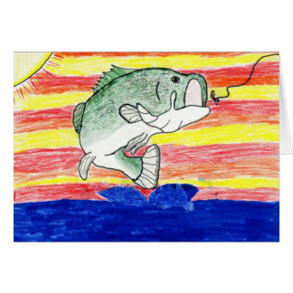 Children's Winning Artwork: largemouth bass Greeting Card